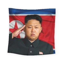 Kim Jong Un Square Tapestry (small)