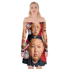 Kim Jong Un Off Shoulder Skater Dress