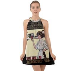 Good Housekeeping Halter Tie Back Chiffon Dress