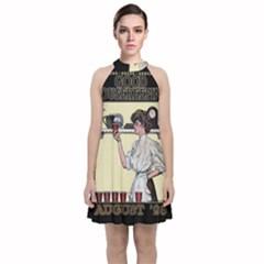 Good Housekeeping Velvet Halter Neckline Dress