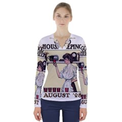 Good Housekeeping V Neck Long Sleeve Top