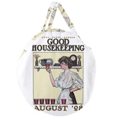 Good Housekeeping Giant Round Zipper Tote