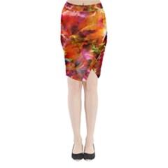 Abstract Acryl Art Midi Wrap Pencil Skirt