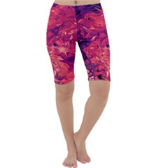 Abstract Acryl Art Cropped Leggings