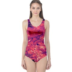 Abstract Acryl Art One Piece Swimsuit