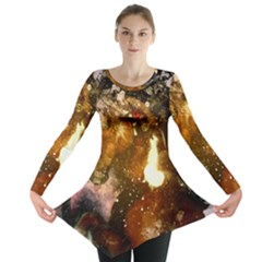 Wonderful Horse In Watercolors Long Sleeve Tunic