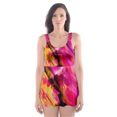 Abstract Acryl Art Skater Dress Swimsuit