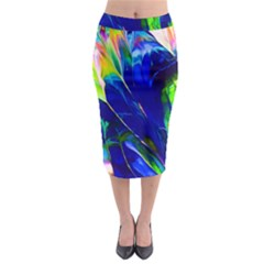 Abstract Acryl Art Midi Pencil Skirt