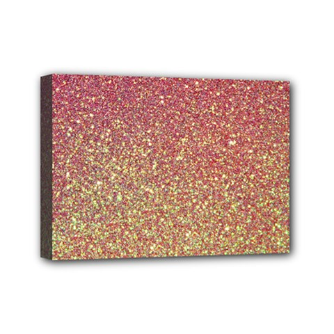 Rose Gold Sparkly Glitter Texture Pattern Mini Canvas 7  X 5