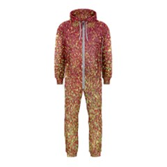 Rose Gold Sparkly Glitter Texture Pattern Hooded Jumpsuit (kids)