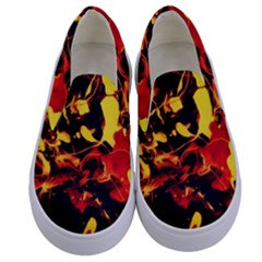 Abstract Acryl Art Kids  Canvas Slip Ons