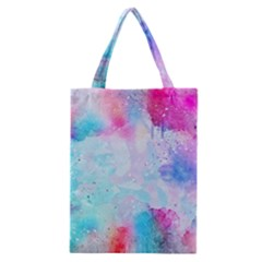 Pink And Purple Galaxy Watercolor Background  Classic Tote Bag