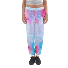 Pink And Purple Galaxy Watercolor Background  Women s Jogger Sweatpants