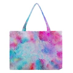 Pink And Purple Galaxy Watercolor Background  Medium Tote Bag