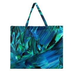 Abstract Acryl Art Zipper Large Tote Bag