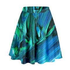 Abstract Acryl Art High Waist Skirt