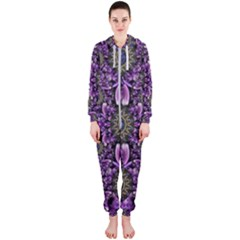 Flowers From Paradise In Fantasy Elegante Hooded Jumpsuit (ladies)