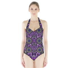 Flowers From Paradise In Fantasy Elegante Halter Swimsuit