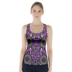 Flowers From Paradise In Fantasy Elegante Racer Back Sports Top