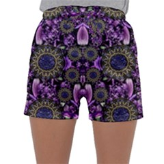 Flowers From Paradise In Fantasy Elegante Sleepwear Shorts