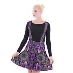 Flowers From Paradise In Fantasy Elegante Suspender Skater Skirt