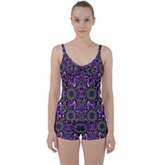 Flowers From Paradise In Fantasy Elegante Tie Front Two Piece Tankini