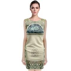 Art Nouveau Classic Sleeveless Midi Dress