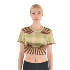 Art Deco Red Cotton Crop Top