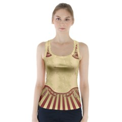 Art Deco Red Racer Back Sports Top