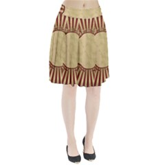 Art Deco Red Pleated Skirt