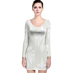 Fleur De Lis Long Sleeve Velvet Bodycon Dress