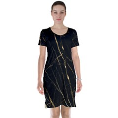 Black Marble Short Sleeve Nightdress