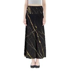 Black Marble Full Length Maxi Skirt