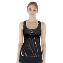 Black Marble Racer Back Sports Top