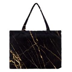 Black Marble Medium Tote Bag