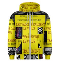 Ronald Story Vaccine  Men s Zipper Hoodie