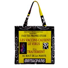 Ronald Story Vaccine  Zipper Grocery Tote Bag