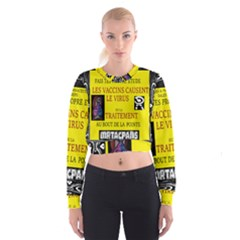 Ronald Story Vaccine  Cropped Sweatshirt