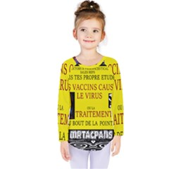 Ronald Story Vaccine  Kids  Long Sleeve Tee