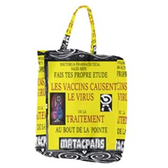 Ronald Story Vaccine  Giant Grocery Zipper Tote