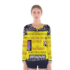 Vaccine  Story Mrtacpans Women s Long Sleeve Tee