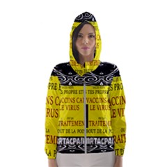 Vaccine  Story Mrtacpans Hooded Wind Breaker (women)