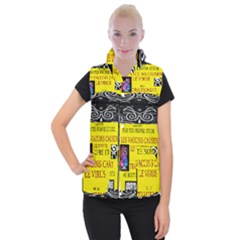 Vaccine  Story Mrtacpans Women s Button Up Puffer Vest