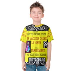 Vaccine  Story Mrtacpans Kids  Cotton Tee