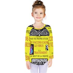 Vaccine  Story Mrtacpans Kids  Long Sleeve Tee