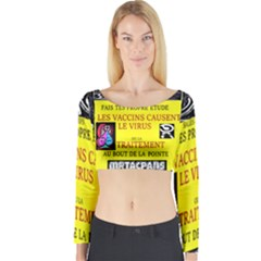 Vaccine  Story Mrtacpans Long Sleeve Crop Top