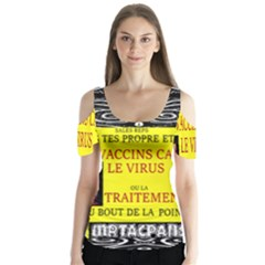 Vaccine  Story Mrtacpans Butterfly Sleeve Cutout Tee