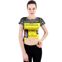 Vaccine  Story Mrtacpans Crew Neck Crop Top