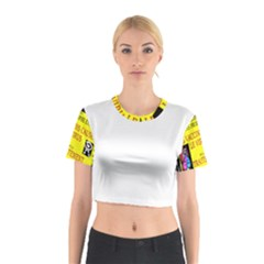 Vaccine  Story Mrtacpans Cotton Crop Top