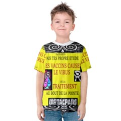 Vaccine  Story Mrtacpans Kids  Cotton Tee